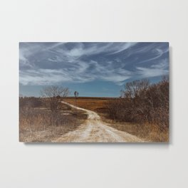 West Texas Dirt Road Metal Print