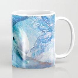 Watercolor Dolphin  Digital Art Coffee Mug