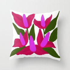 Purple Pink Marvels Throw Pillow