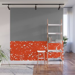 Quick Draw Orange and Grey Wall Mural