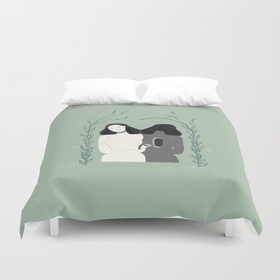 Lady of the Forest Duvet Cover