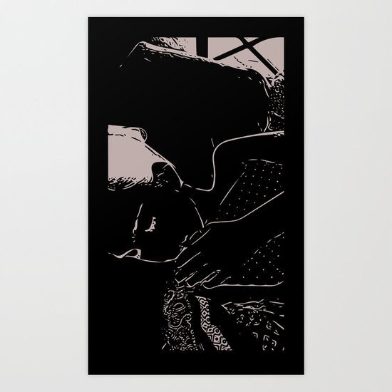 Sleepy Head Art Print