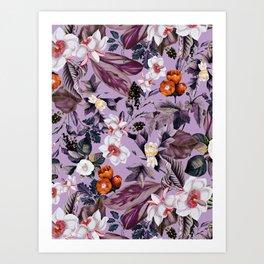 Crocus Petal Art Print