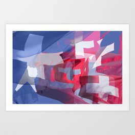collage swissflag Art Print