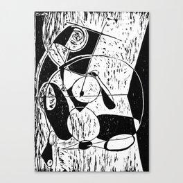 Xylography femme Canvas Print