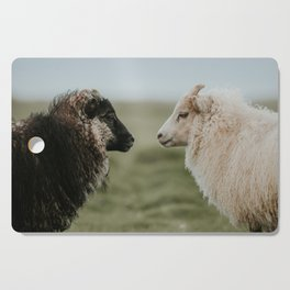 Sheeply in Love - Animal Photography from Iceland Cutting Board