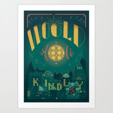 Would You Kindly (Bioshock) Art Print