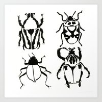 insects Art Prints featuring Insects by Kim Cooper Collections