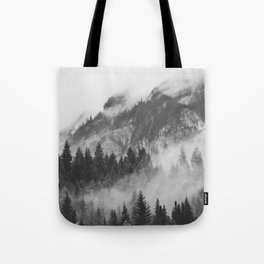 Vancouver Fog B&W Tote Bag