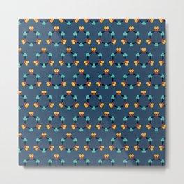 Kaleidoscope blue Metal Print