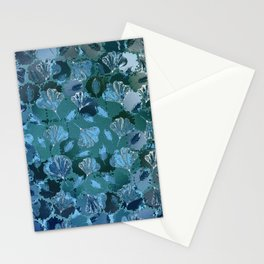 Mosaic Ginkgo (Sapphire Blue) Stationery Cards