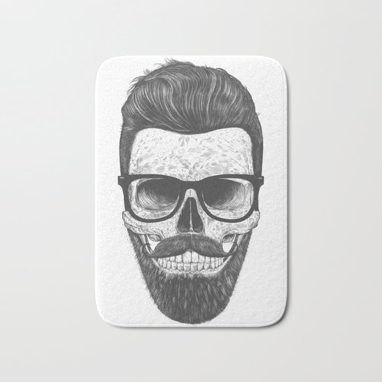 Hipster Skull Bath Mat