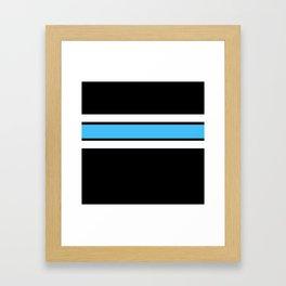 Team Colors 2..light blue ,white Framed Art Print