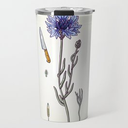 blue cornflower and knife Travel Mug