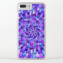 Dark Spral Clear iPhone Case