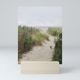 Overcast Beach Morning in Rhode Island Mini Art Print