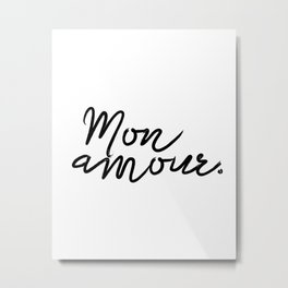 Printable Poster ''Bonjour Mon Amour'' French Decor, Printable Gift, Fashion Print Metal Print