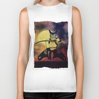 catwoman Biker Tanks featuring catwoman by Ancello