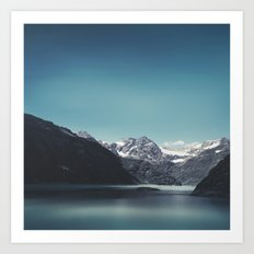 turquoise mountain lake Art Print