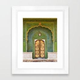 Green gate City Palace Jaipur, India Framed Art Print