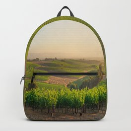 Golden Vineyard  panorama Backpack