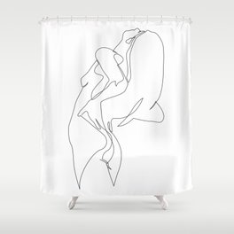 One line nude - e 5 Shower Curtain
