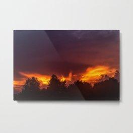 Sunset After The Storm Metal Print