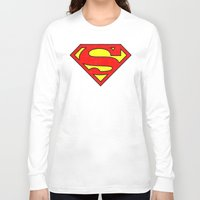 superman Long Sleeve T-shirts featuring Superman by Alisa Galitsyna