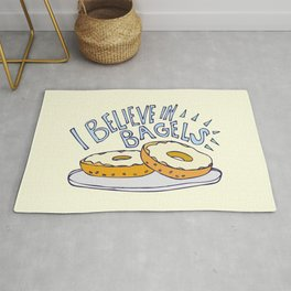 I Believe in Bagels Rug