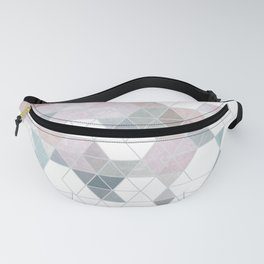 Abstract Snow on Soft Geometry #abstractart #winterart Fanny Pack