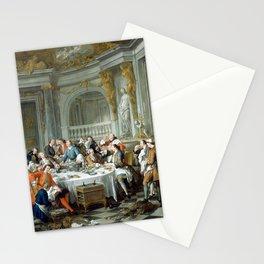 Jean-François de Troy The Oyster Dinner Stationery Cards