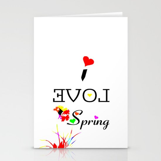 I LOVE SPRING  Stationery Cards