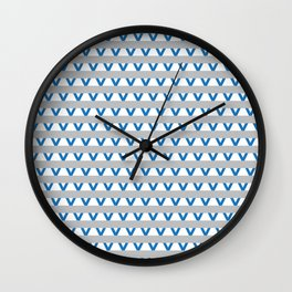 Paranoia (Grey and Turquoise) Wall Clock