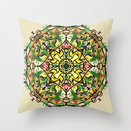 Easter bunny and chick 2 Throw Pillow