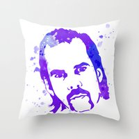 nick cave Throw Pillows featuring NICK CAVE by BIG Colours