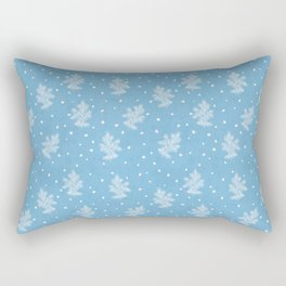 I don't know let it snow Xmas pattern Rectangular Pillow