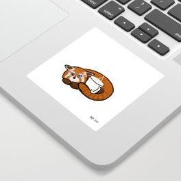 Coffee Red Panda Sticker