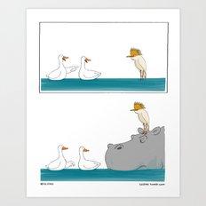 Be Nice Art Print