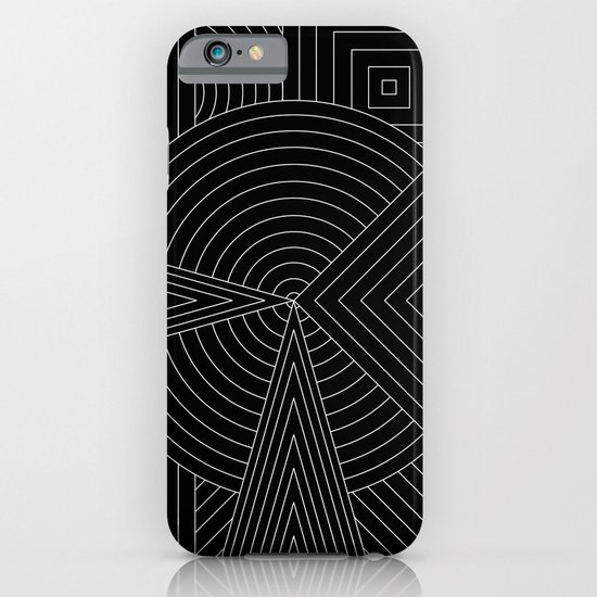 Black White iPhone & iPod Case