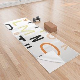 Eclectic Alphabet Yoga Towel