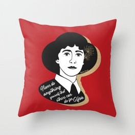 Never Do Anything Yourself - Agatha Christie - Red Throw Pillow