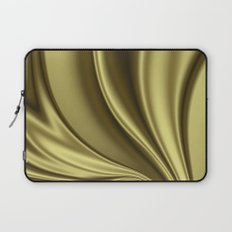 Abstract Fractal Colorways 02 Simple Gold Laptop Sleeve