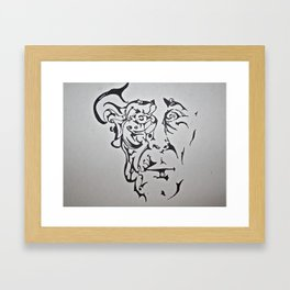 A Man of Organic Lineage Framed Art Print