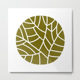 abstract olive round on white Metal Print