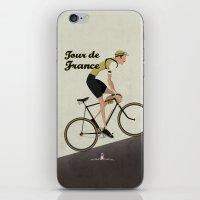 tour de france iPhone & iPod Skins featuring Tour De France by Wyatt Design