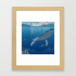 The whale Framed Art Print