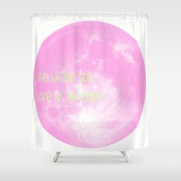 Love By The Moon Pink Shower Curtain