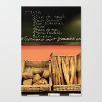 bread Canvas Prints featuring Bread by Stacey P Keating
