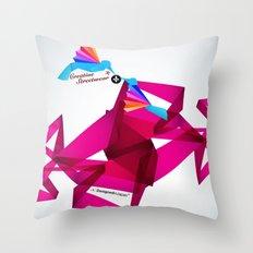 Paper Birds Throw Pillow