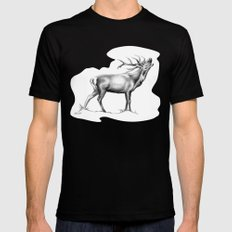 Red Stag Roaring 2 Mens Fitted Tee MEDIUM Black